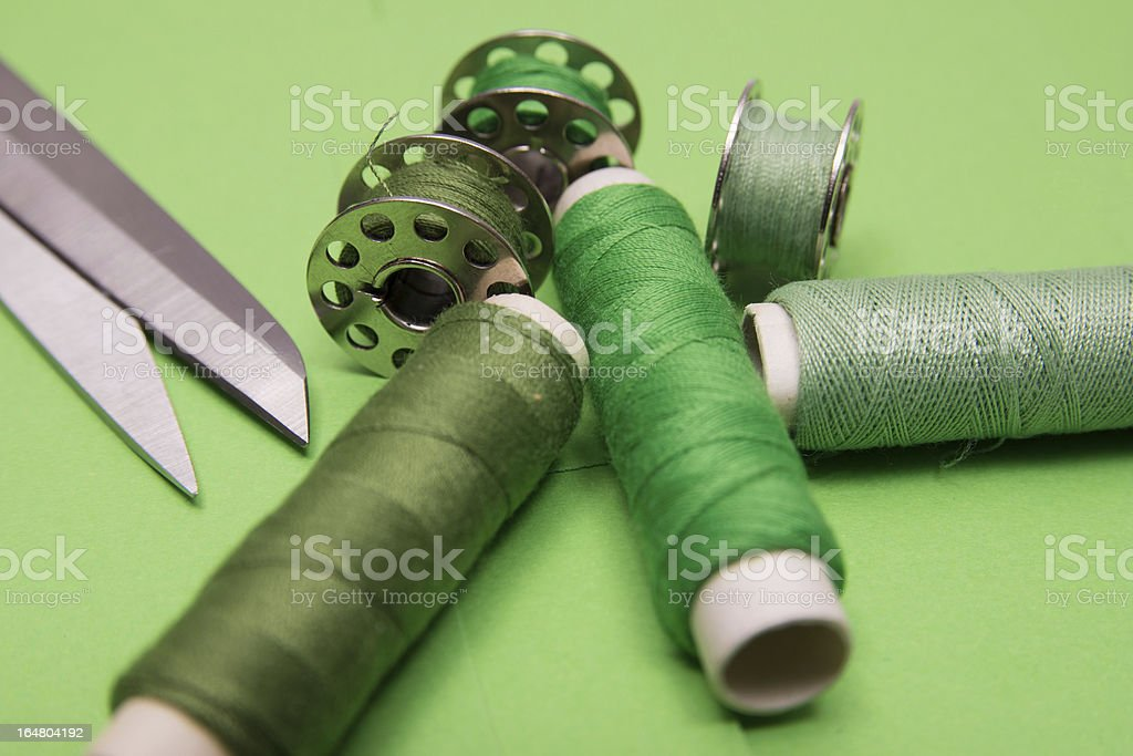 Sewing tread royalty-free stock photo