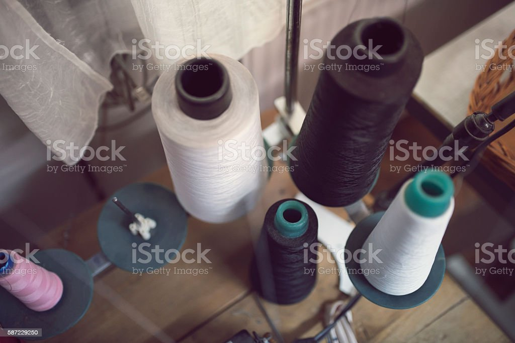 Sewing workshop stock photo