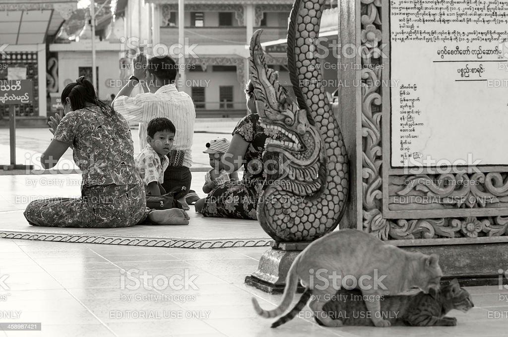 Sex and Religion - Yangon, Myanmar stock photo