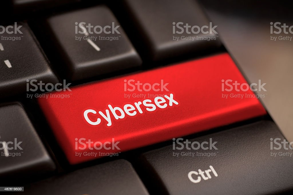 Sex button on keyboard stock photo
