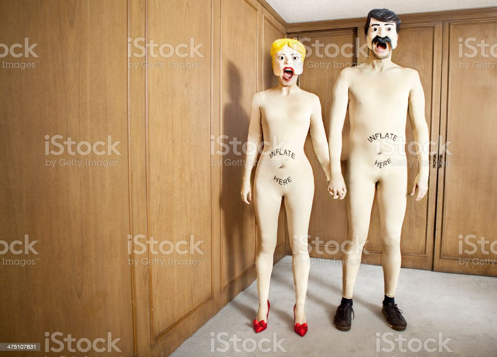 Sex doll couple stock photo