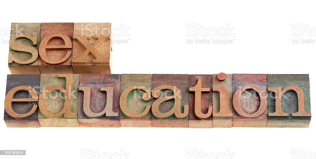 sex education phrase royalty-free stock photo