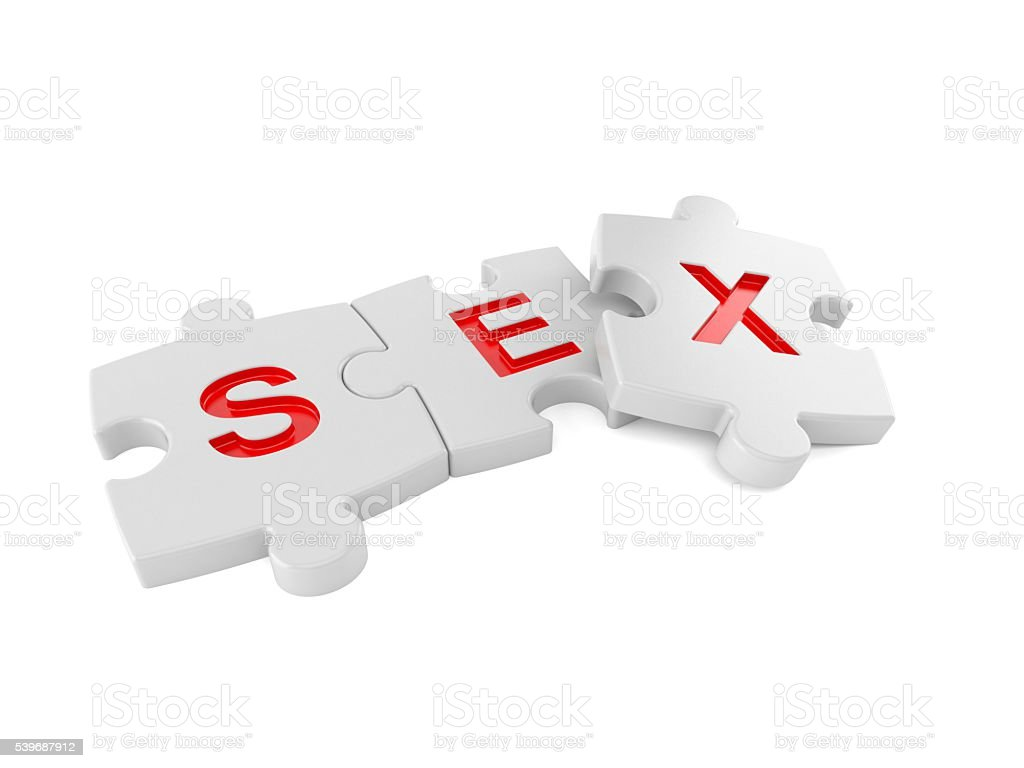 Sex jigsaw stock photo