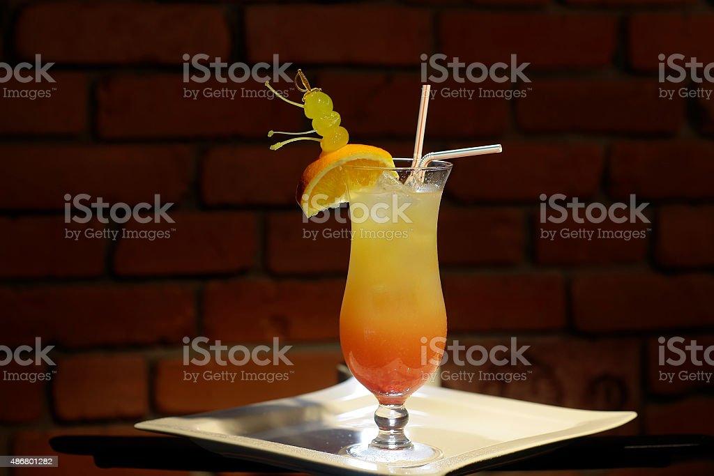 Sex on beach cocktail stock photo