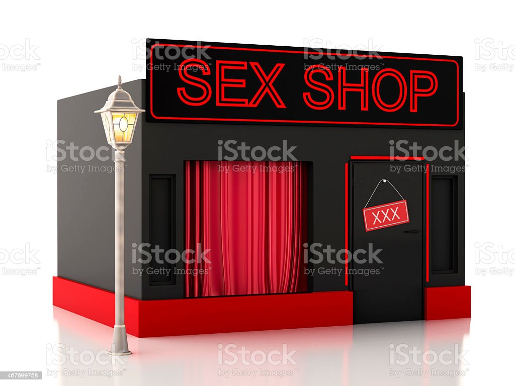 Sex shop. 3d illustration stock photo