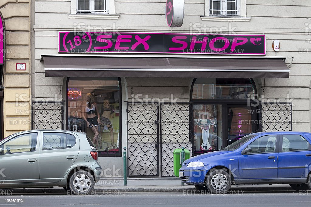 Sex shop royalty-free stock photo