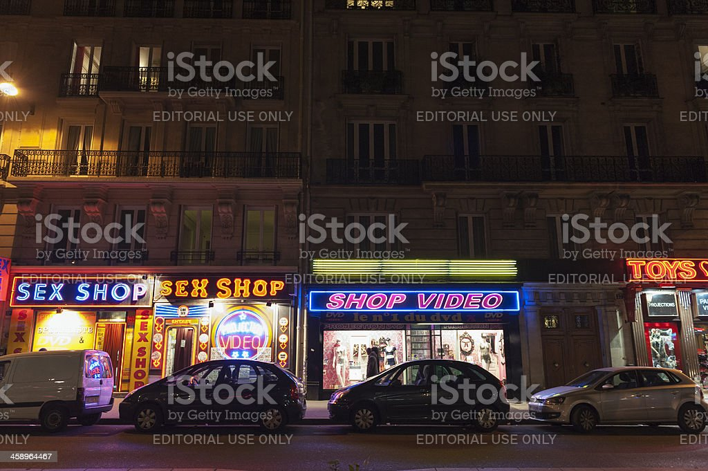 sex shops in the Pigalle - Paris royalty-free stock photo