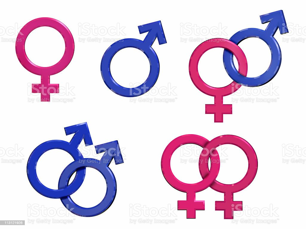 Sex Symbols (3D) royalty-free stock photo