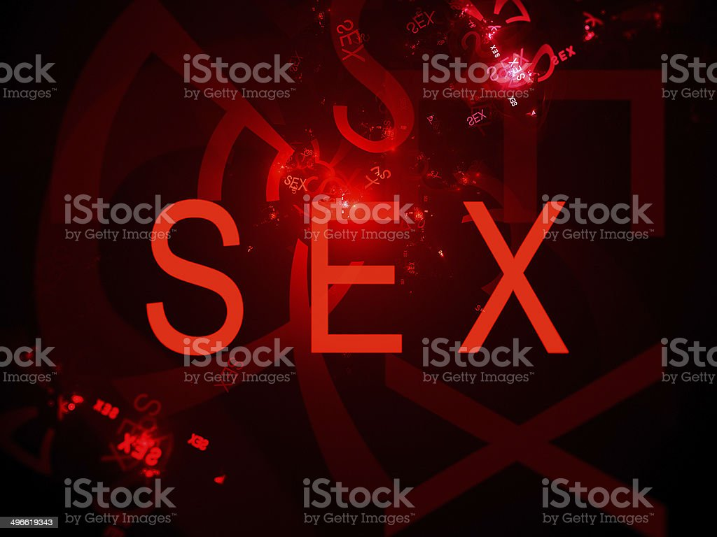 Sex text computer generated background royalty-free stock photo