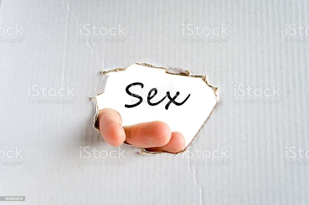 Sex Text Concept stock photo