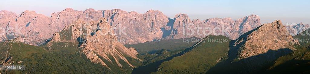 Sextener Dolomiten or Dolomiti di Sesto stock photo