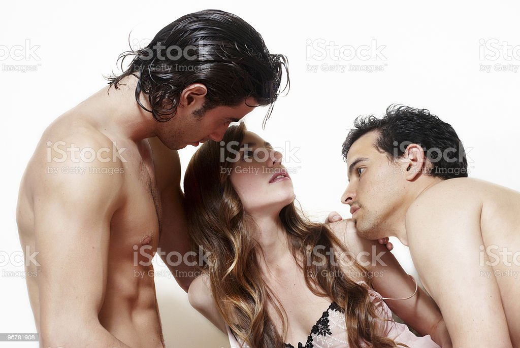 Sexual a prelude three together stock photo