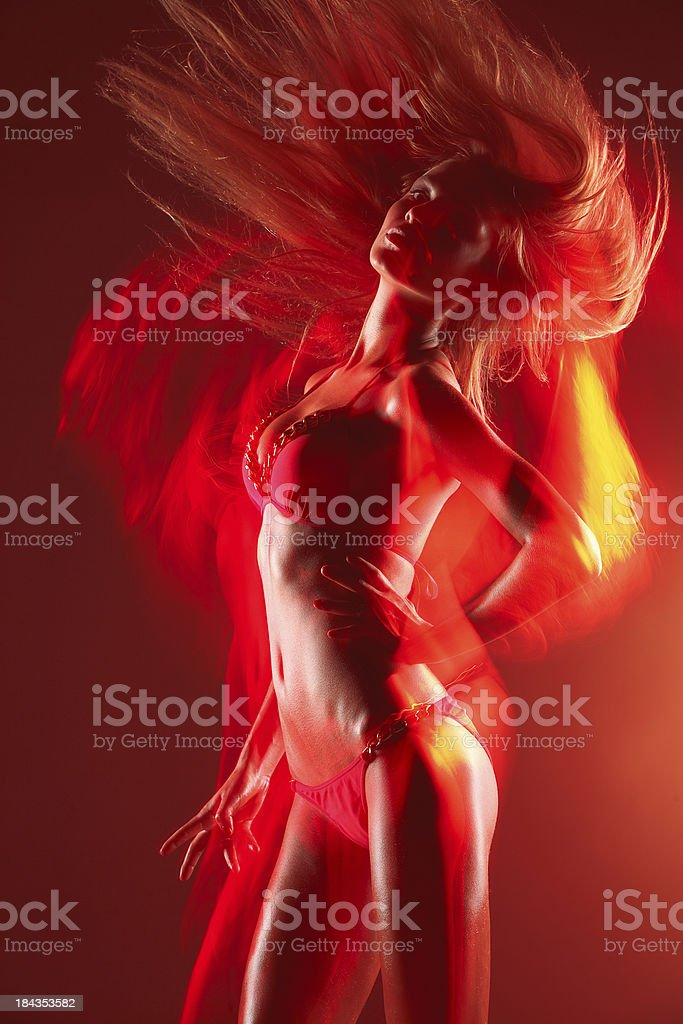 Sexual dancer stock photo