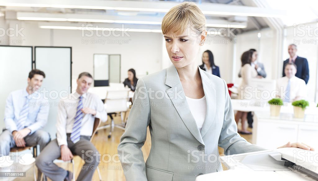 Sexual Harassement in the work place royalty-free stock photo
