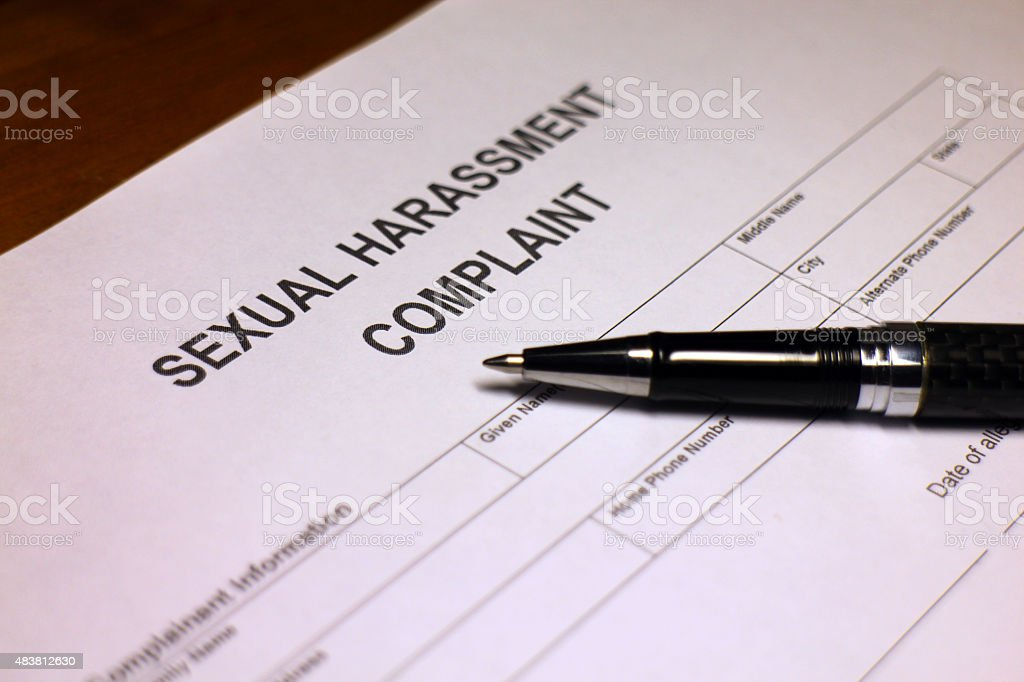 Sexual Harassment Complaint Document stock photo