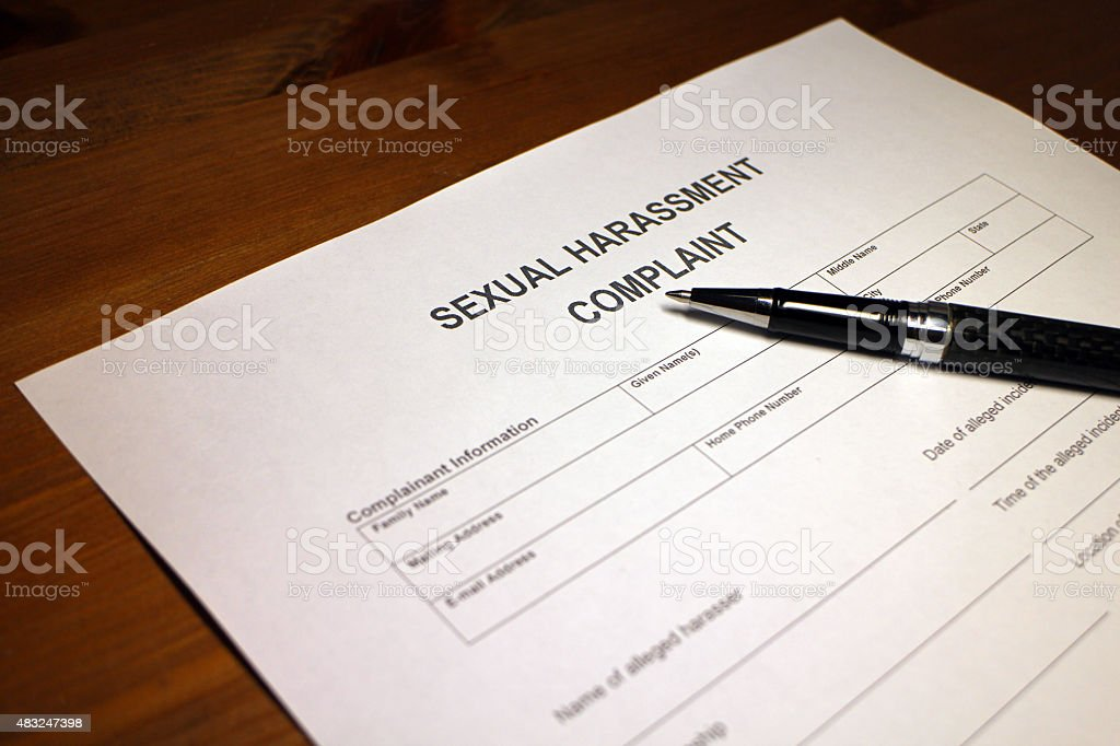 Sexual Hassment Complaint stock photo