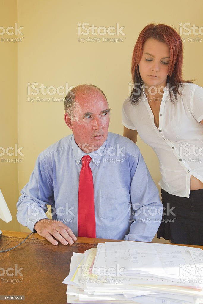 Sexual Harassment In The Workplace royalty-free stock photo