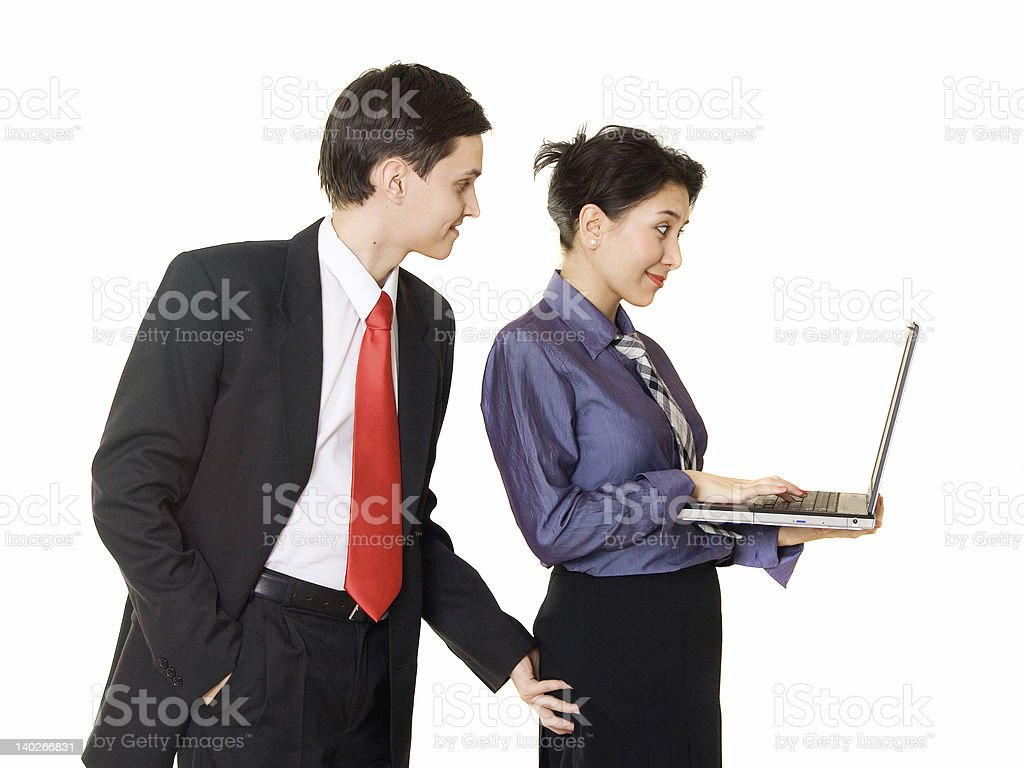 Sexual harassment royalty-free stock photo