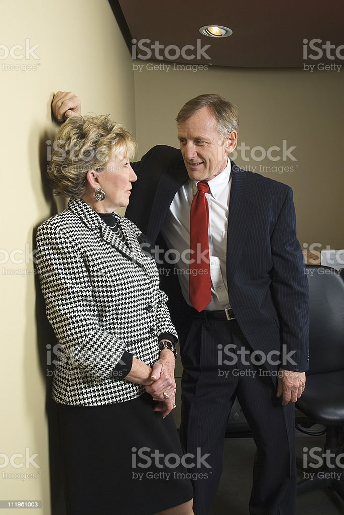 Sexual harrassment in the workplace stock photo