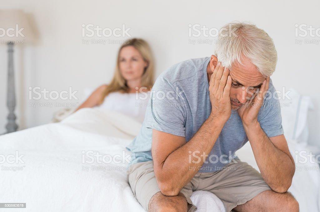 Sexual problem concept stock photo