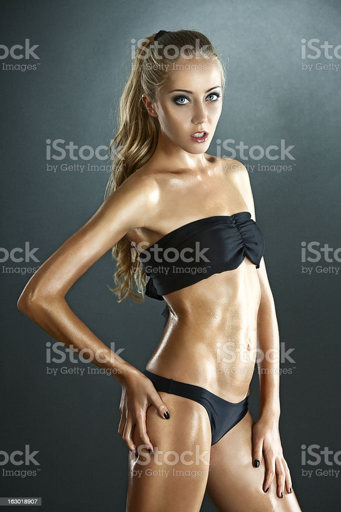 Sexual young woman posing stock photo