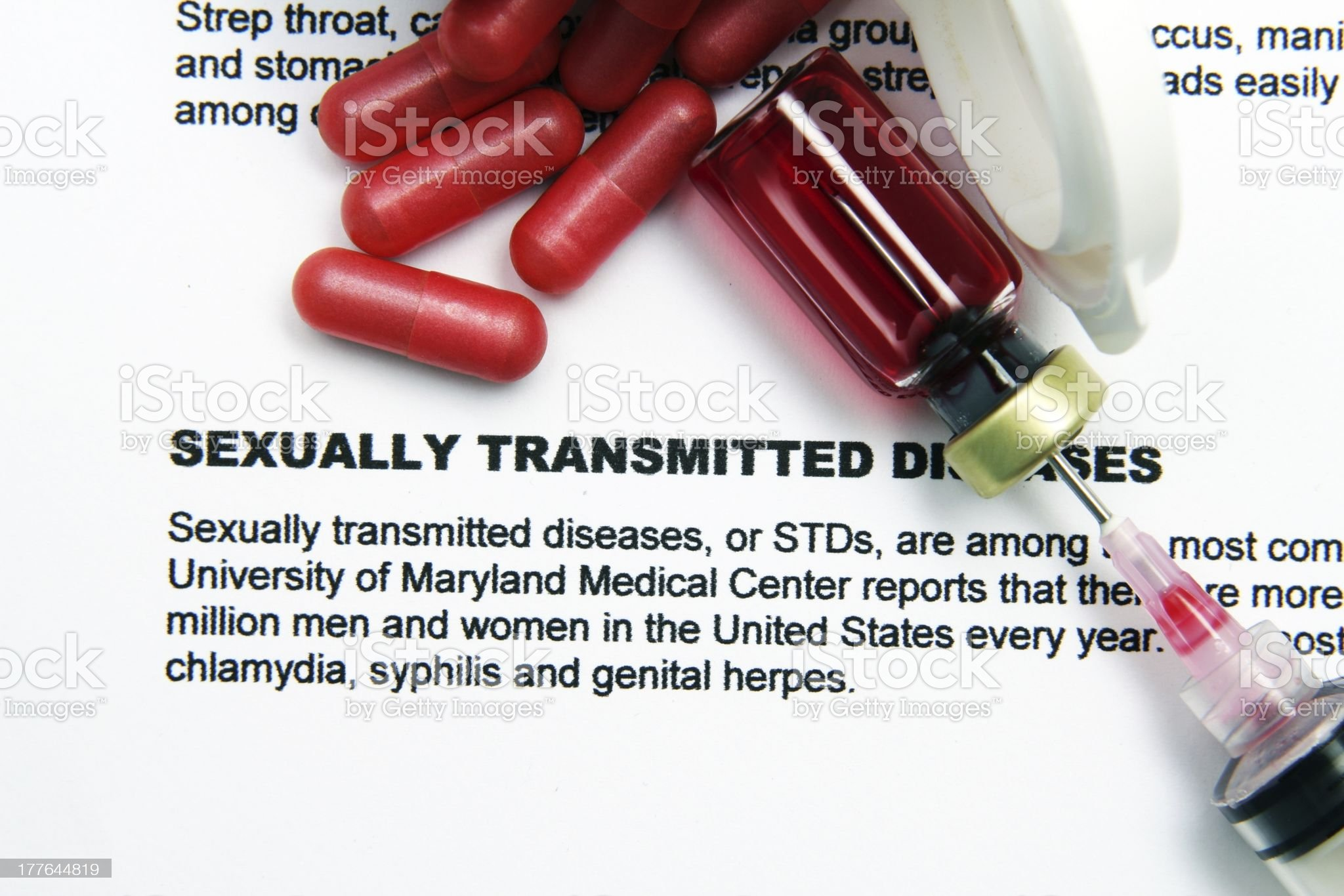 Sexually transmitted disease royalty-free stock photo