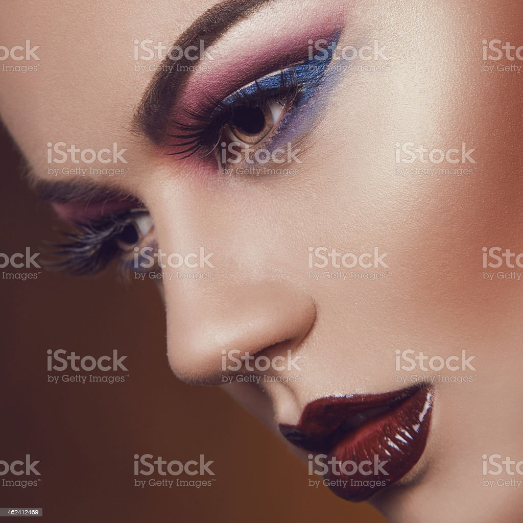 Sexy adult female with healthy skin in studio stock photo
