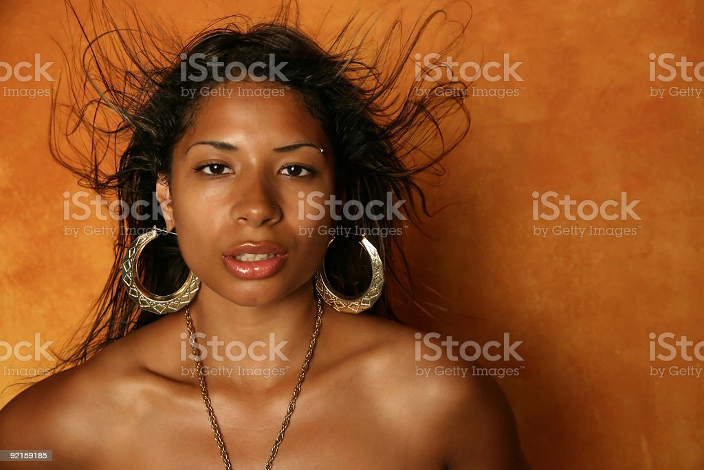 Sexy african american ethnic woman royalty-free stock photo