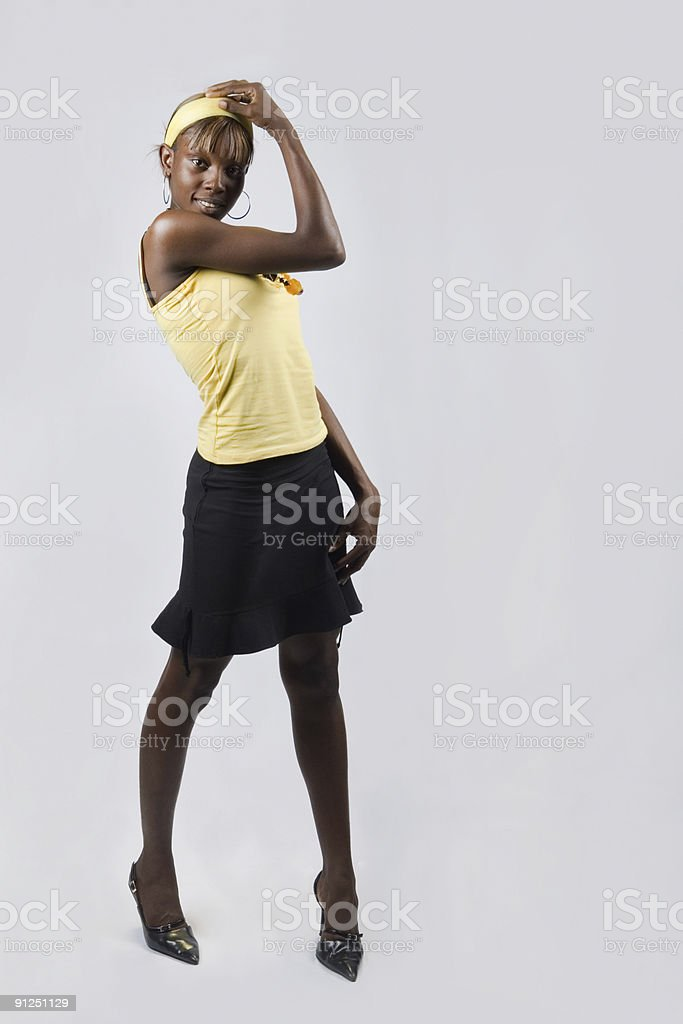Sexy african  girl royalty-free stock photo