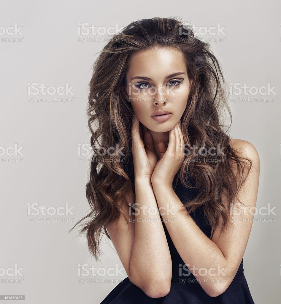 Sexy and sultry stock photo