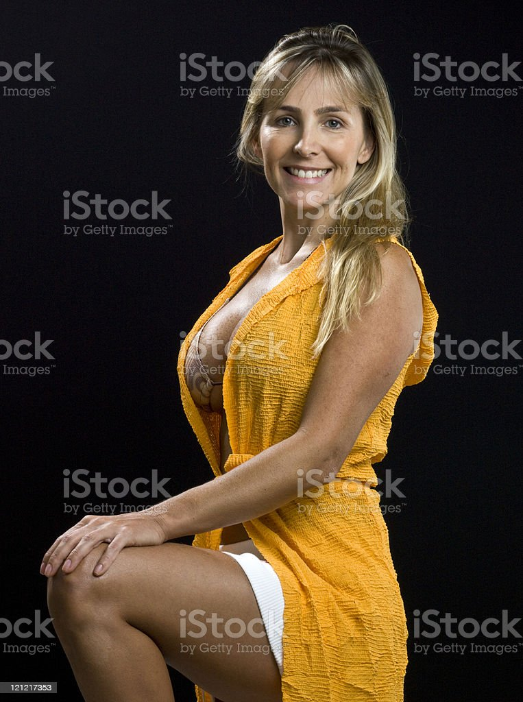 Sexy at her forties royalty-free stock photo