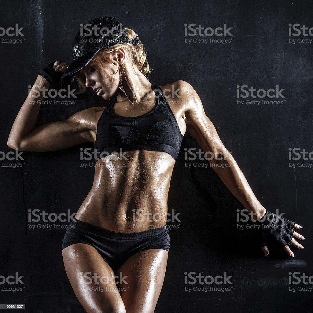 Sexy babe stock photo