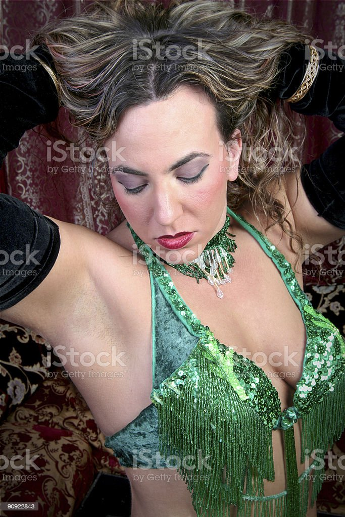 sexy belly dancer royalty-free stock photo