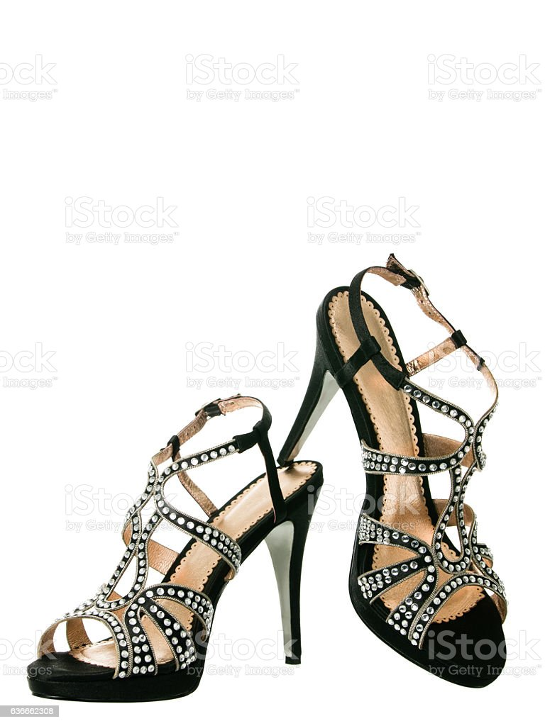 Sexy blingbling coktail women shoes stock photo
