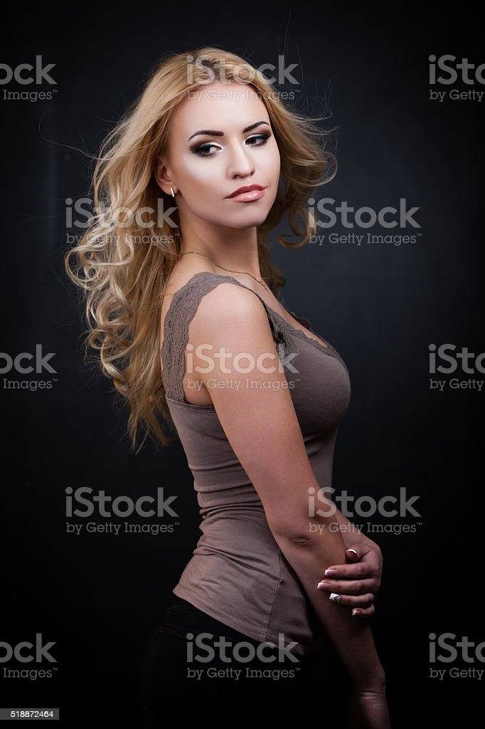 Sexy blond babe stock photo