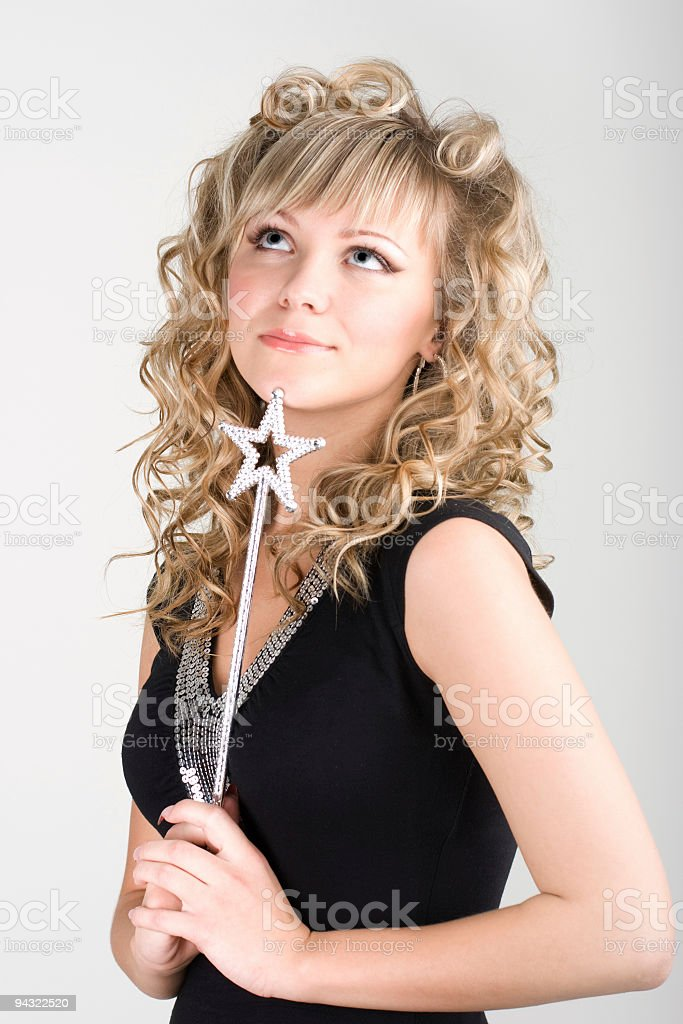 Sexy blond fairy girl royalty-free stock photo