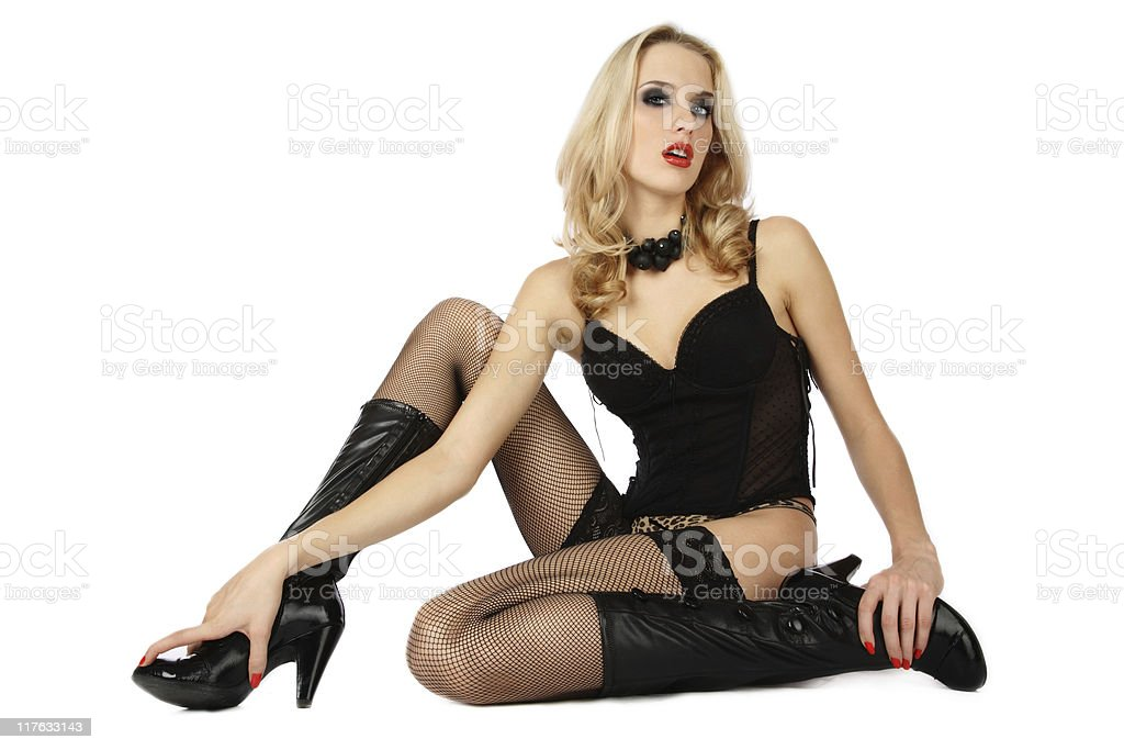 Sexy blond stock photo