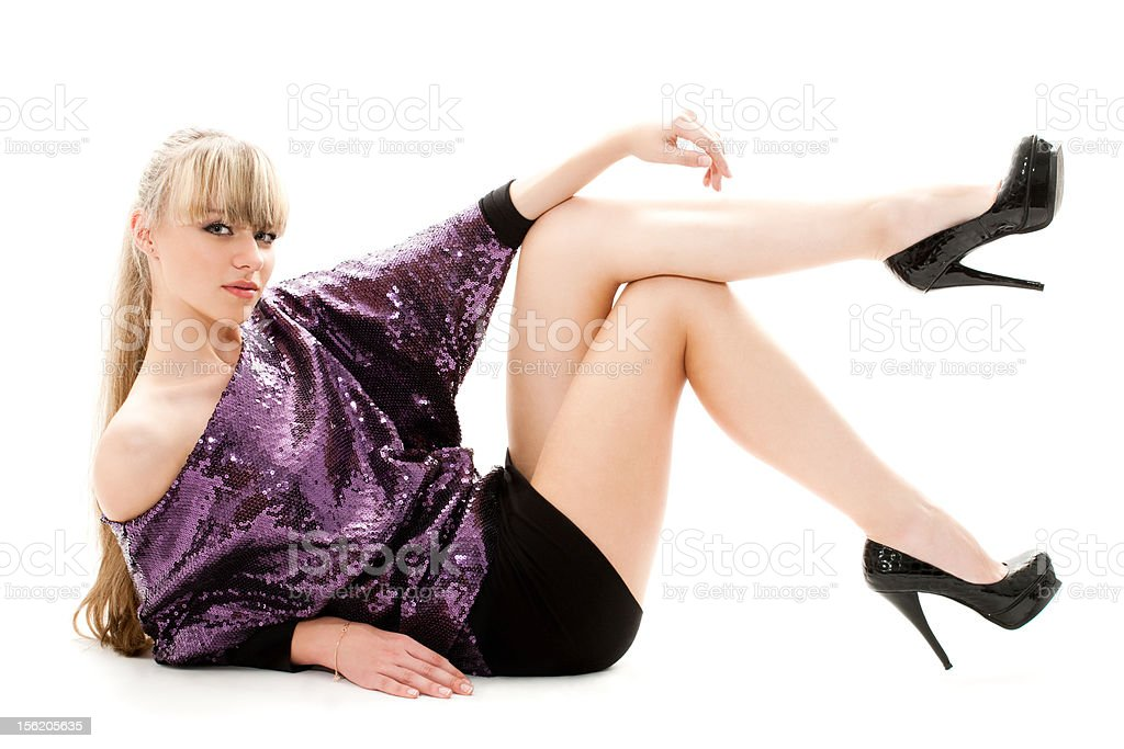 sexy blond royalty-free stock photo
