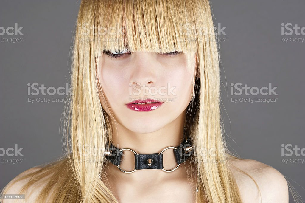 sexy blond woman royalty-free stock photo
