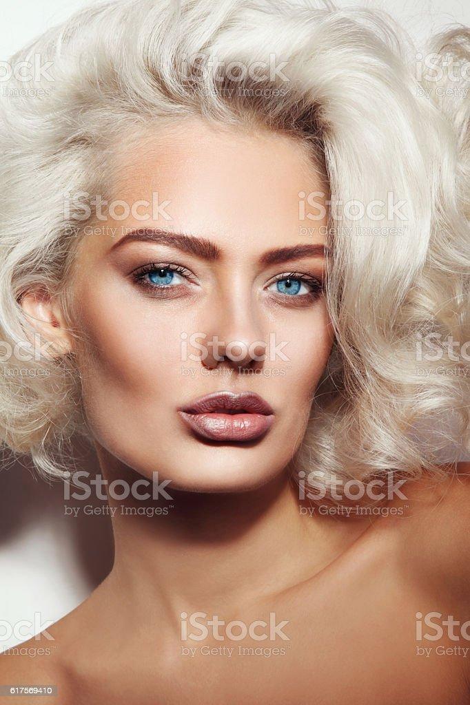 Sexy blonde beauty stock photo