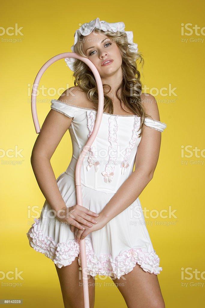 Sexy blonde halloween girl stock photo