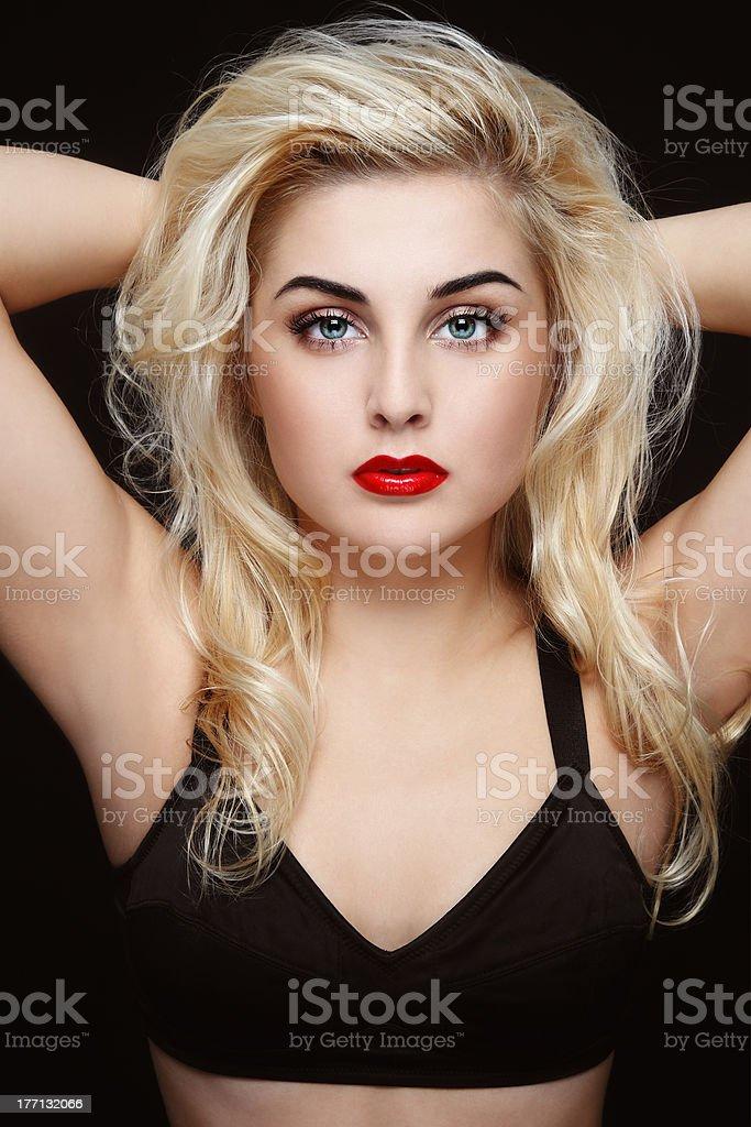 Sexy blonde stock photo