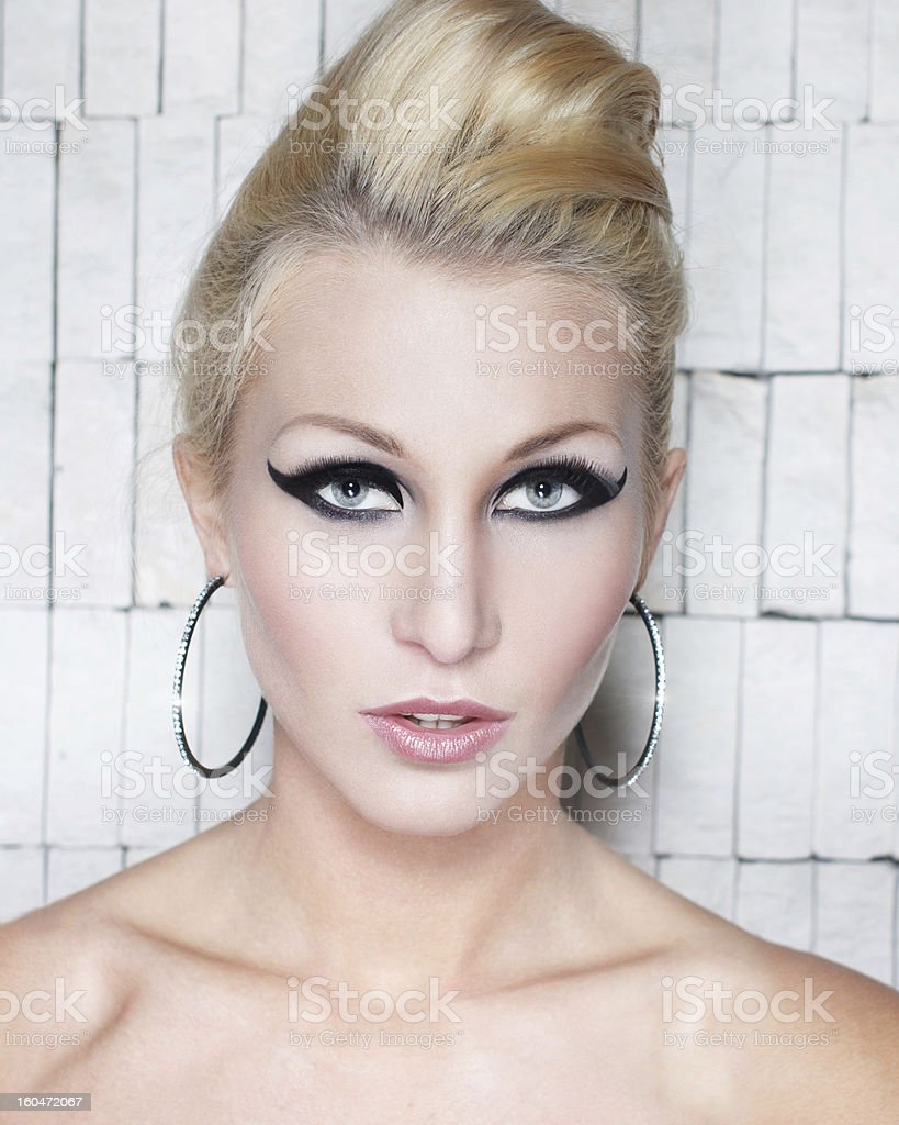 Sexy blonde woman royalty-free stock photo