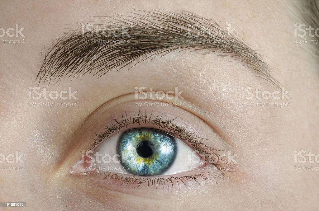 Sexy Blue Eye stock photo