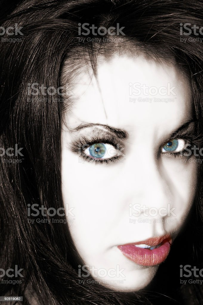Sexy Blue Eyes Woman royalty-free stock photo