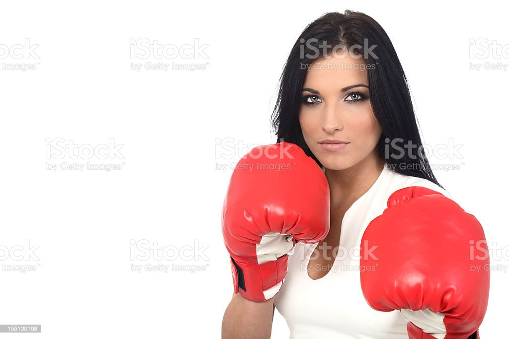 Sexy boxer royalty-free stock photo