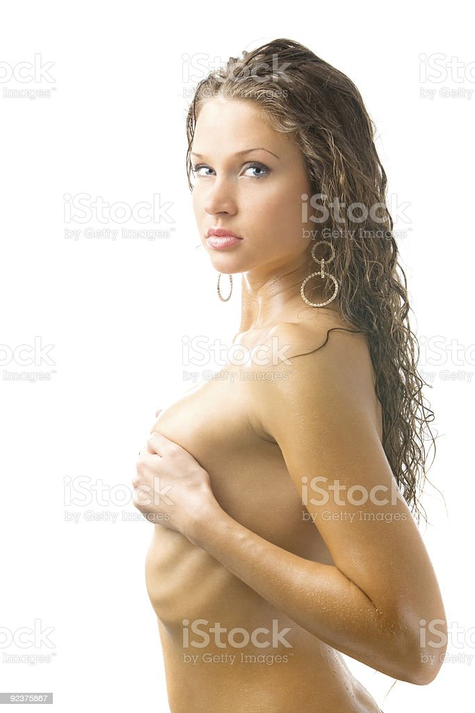 sexy brown hair royalty-free stock photo