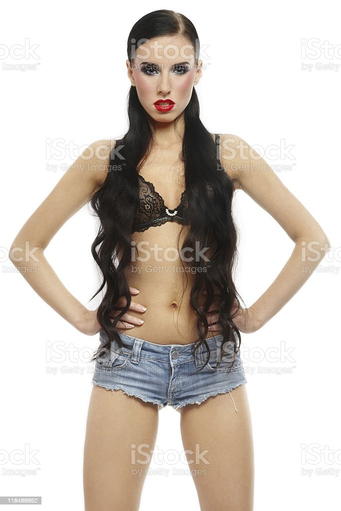 Sexy brunette stock photo