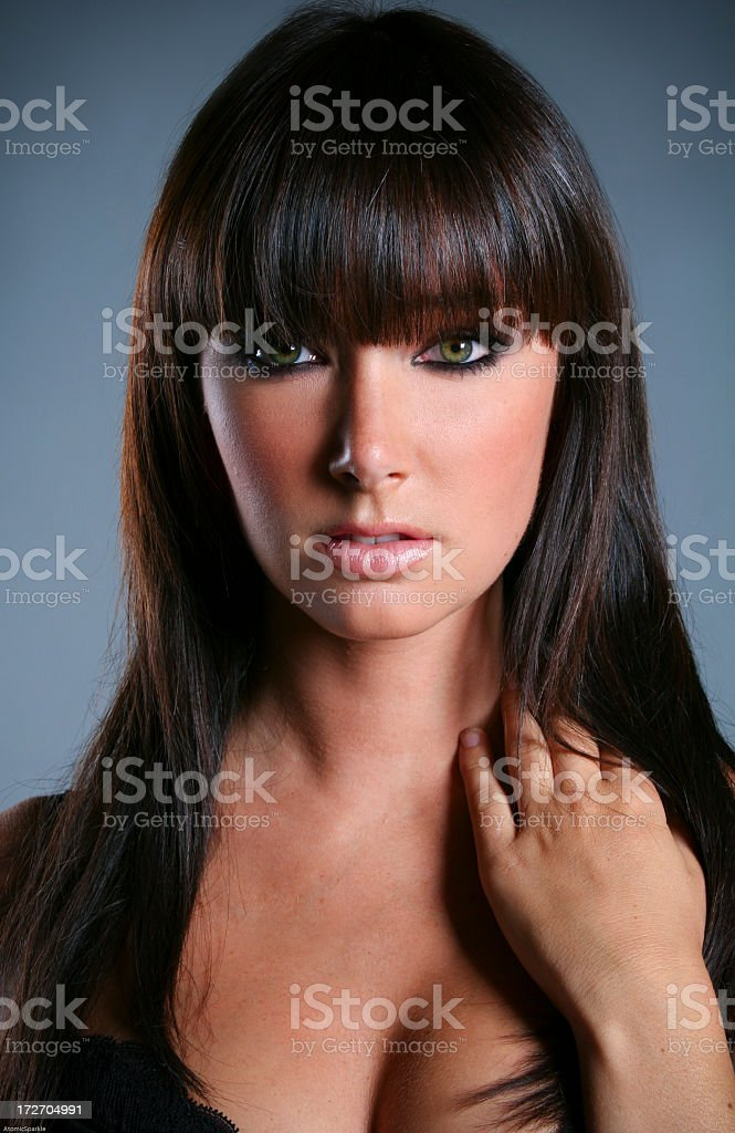 Sexy Brunette Portrait royalty-free stock photo