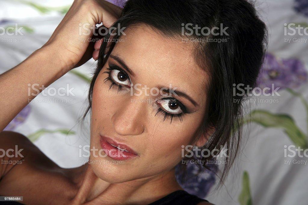 Sexy brunette woman stock photo